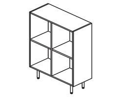 Каркас шкафа 100x44x115 см TETTO — фото 1