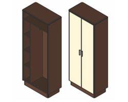 Шкаф гардеробный 80,1х42х200 см — фото 1