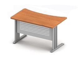 Стол 140x65x74 см с вогнутой столешницей на м/к — фото 1