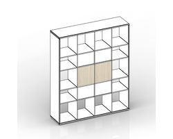 Комплект задних стенок (больших) для стеллажа 38.5х1.8х38.5 см — фото 1