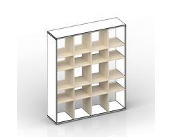 Комплект вертикальных стоек и полок для стеллажа — фото 1