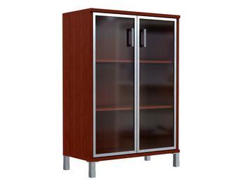Шкаф средний со стеклянными дверьми в AL рамке — фото 1