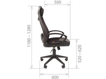 Кресло CHAIRMAN CH 840 Black — фото 10