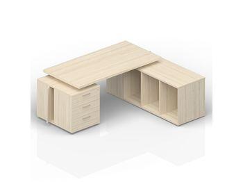 Стол 200(+0/15/30/45/60)х180х73.5 см (левый) — фото 1