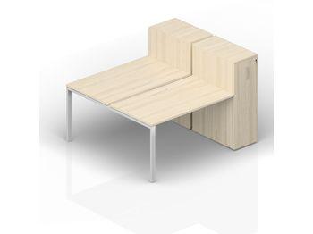 Составной стол 120(+40)х165х112 см на 2 рабочих места — фото 1